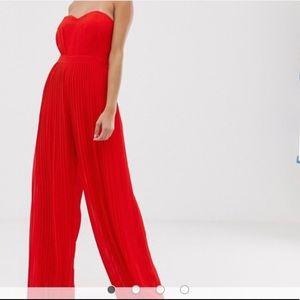 ASOS Strapless Wide Leg Jumpsuit